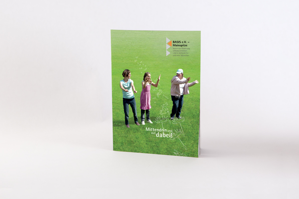 Broschüre, Layout für den Familienentlastenden Dienst Basis e.V. Mainspitze