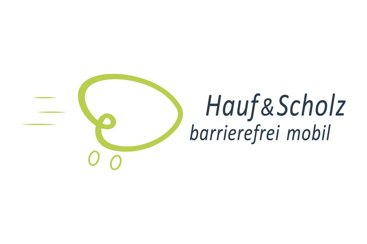 Logo, Hauf & Scholz, Fahrdienst für Menschen mit Behinderungen