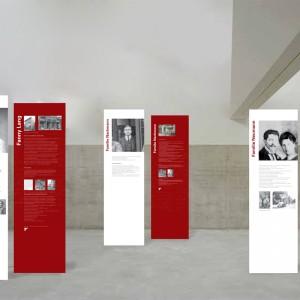 Ausstellungsdesign, Banner zum Thema